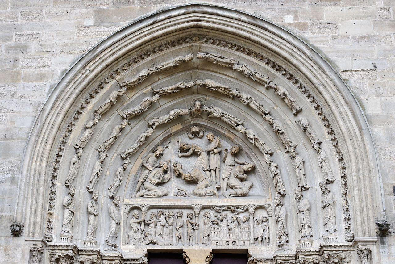basilique de saint denis la decapitation de saint denis