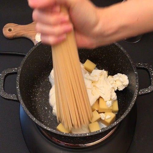 Fondue de spaghetti