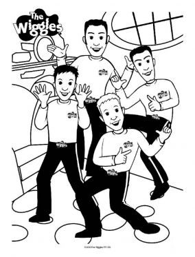 The Wiggles Dancing Page Colouring Pages Coloring Pages Printable Coloring Pages