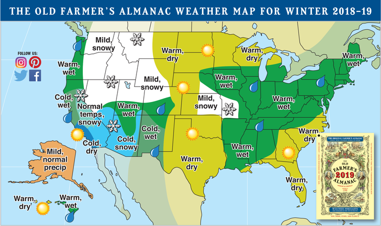 White Christmas 2020 Weather Old Farmer's Almanac Releases Winter 2019 Forecast and Ruins Our