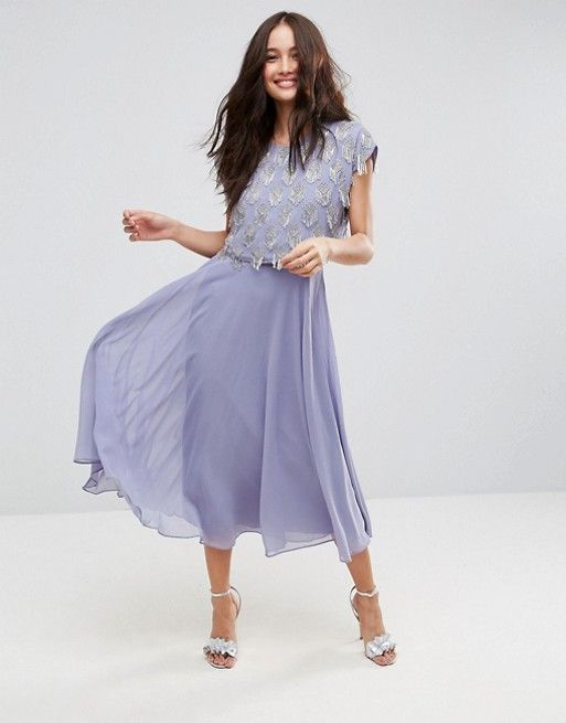 discover fashion online | embellished midi dress