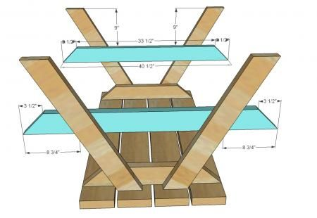 Picnic Table Plans Picnic Table Plans Use These Free Picnic Table Plans To  Build A Picnic Table For Your Backyard See More Lots Of Outdoor Projects  You Can ...