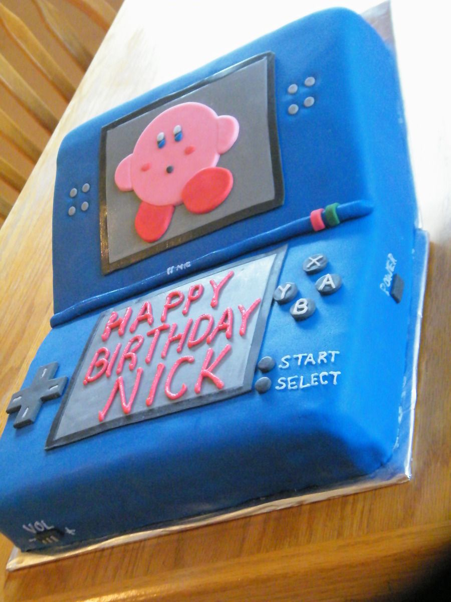 Nintendo Ds Cake With Kirby Birthday Cakes Pinterest Cake