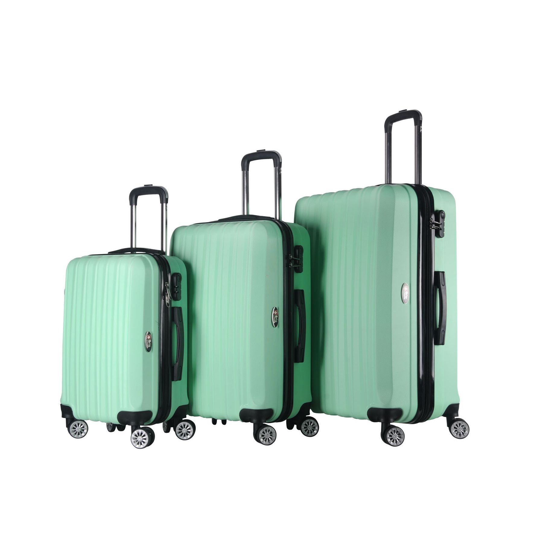 Brio Luggage 3-piece Hardside Spinner Luggage Set (Navy ...