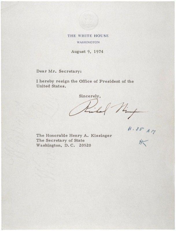 President Richard Nixon resigns August 9, 1974 HistoryOn This