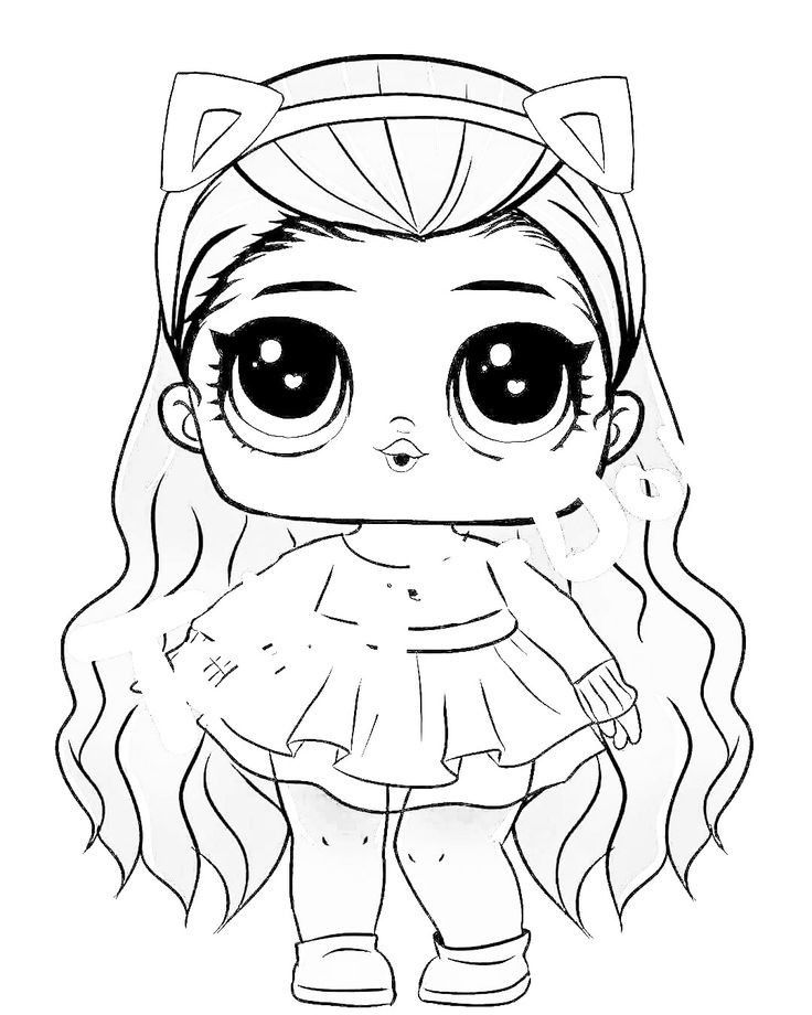 Pin By Silvina Lopez Larluz On Doll Lolsurprise Cute Coloring Pages Ladybug Coloring Page Lol Dolls