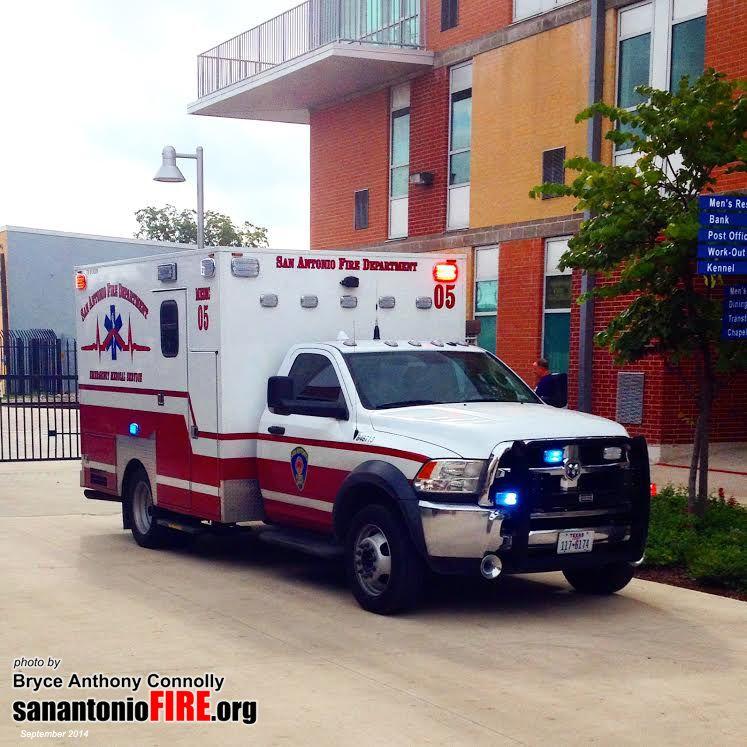 San Antonio Fire Department EMS unit 805 built by Frazer