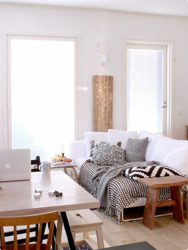 GroBartig Wohnzimmer Ideen Bilder Design Fenster Sofa