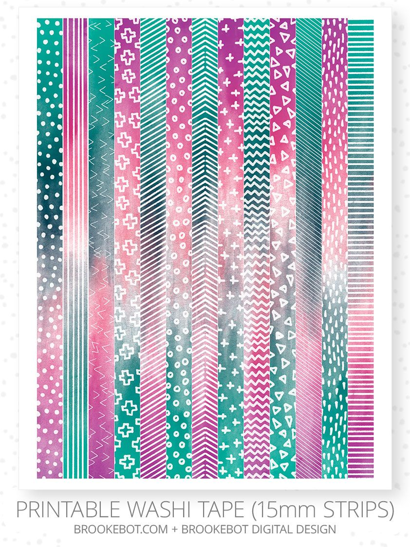 photograph about Printable Washi Tape known as Pin upon Washi tape