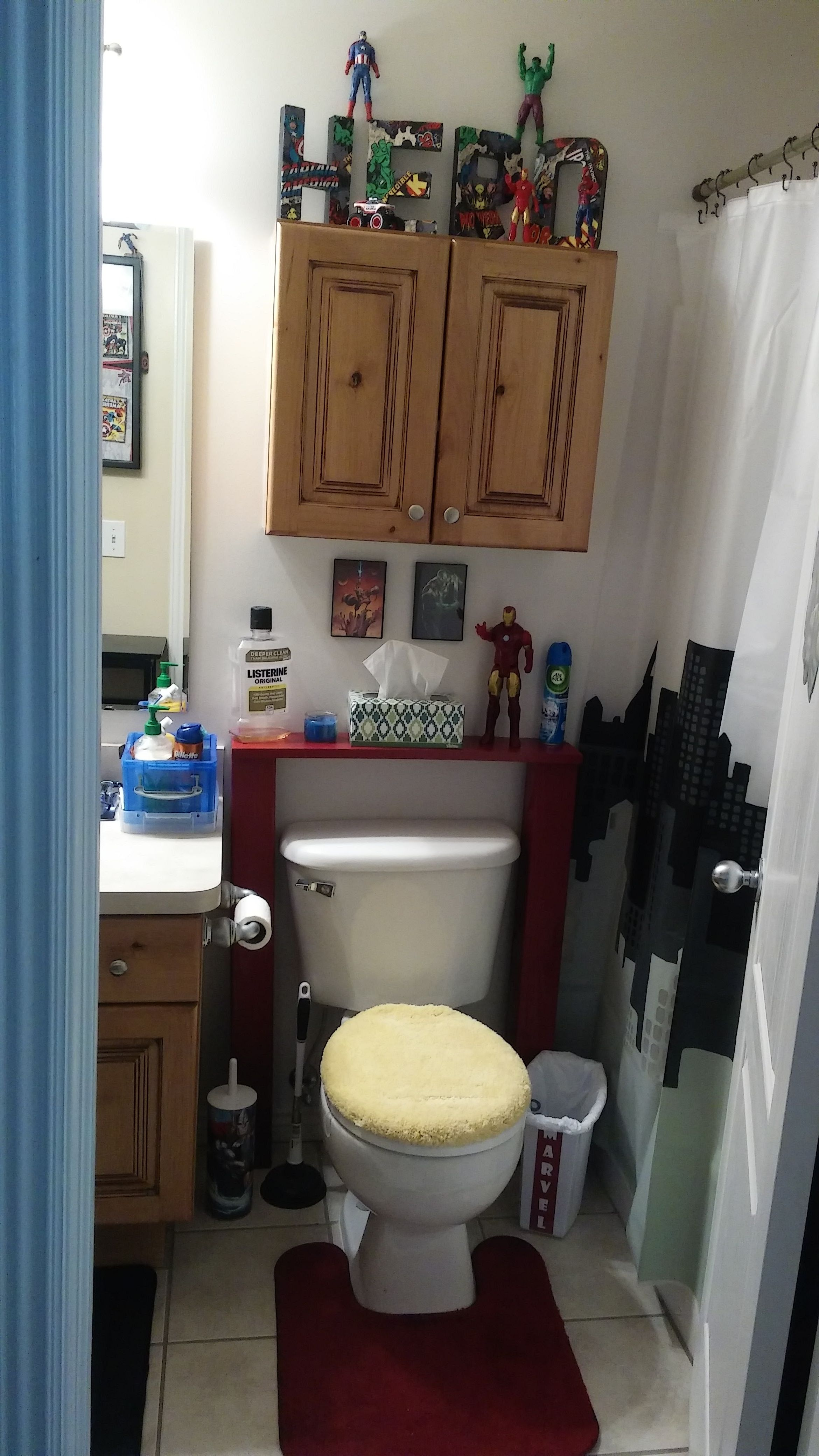 Marvel Superhero Bathroom! Iron Man - AKA Iron Can!! Ha ...