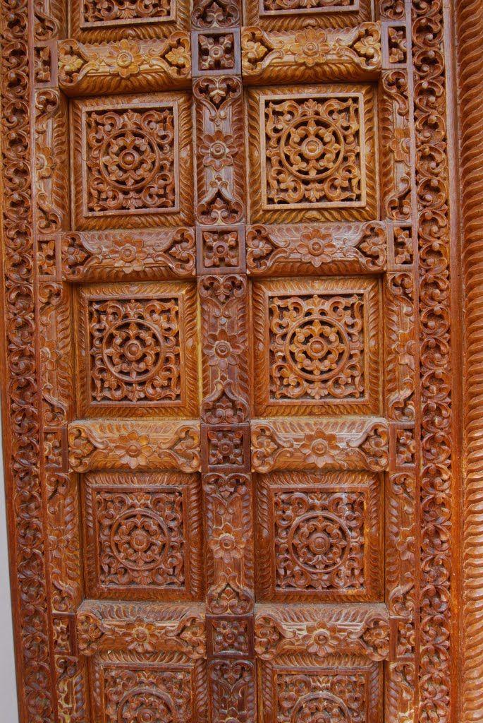Jain Temple Temple Carved Wooden Door Oshwal Centre Uk