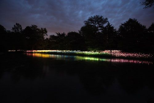 British artist and lighting designer Bruce Munro recently opened an outdoor exhibition at Pennsylvania's Longwood Gardens entitled Light.