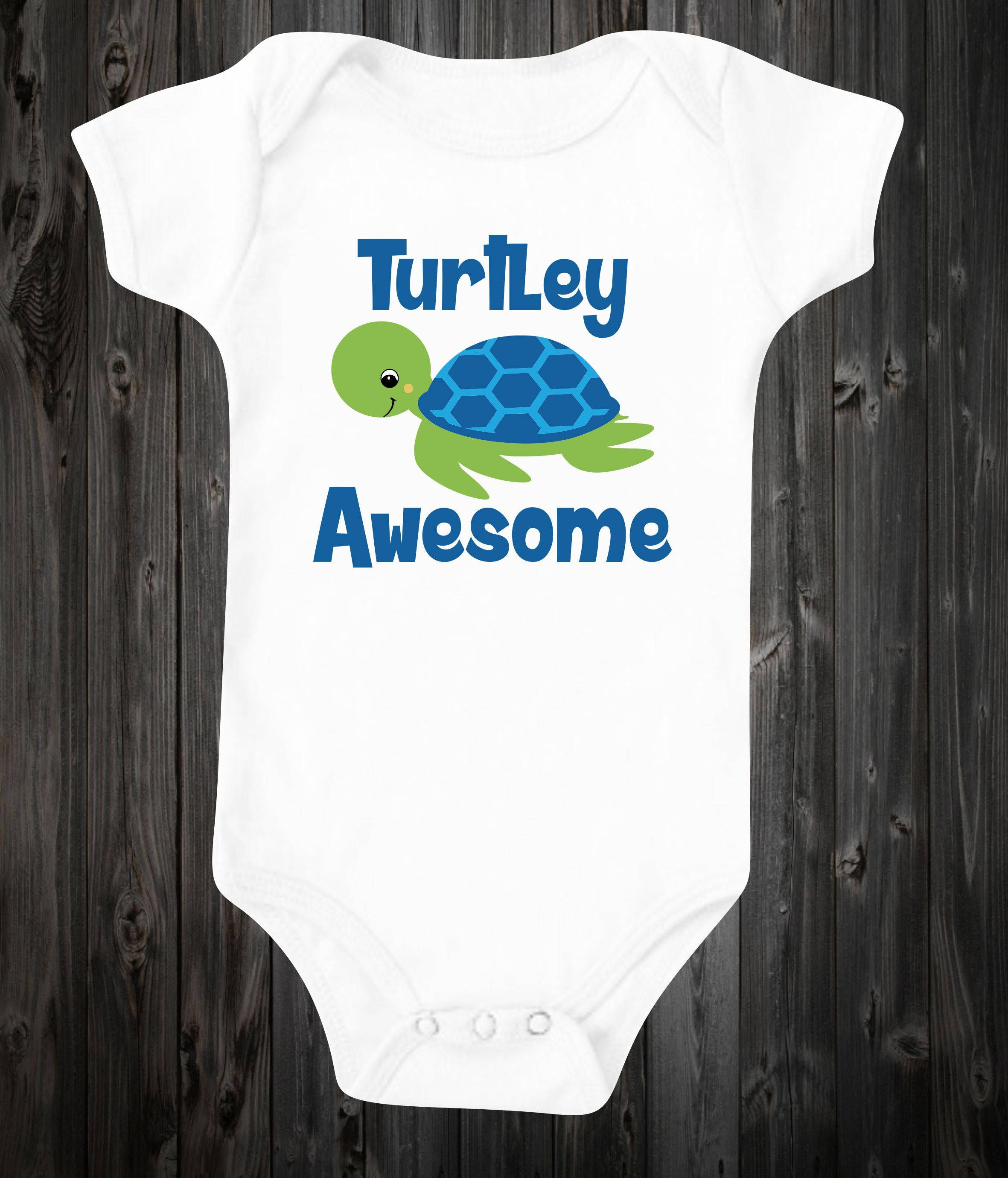 Turtley Awesome Baby © esie Baby Boy Outfit Cute Shirt Turtle