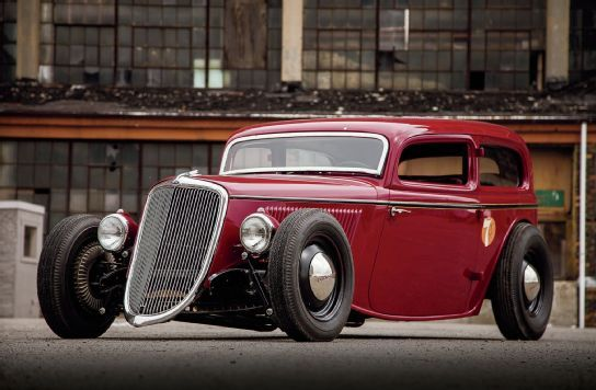 "Kirk Hanning is all in with his 1934 Ford Sedan. Starting in extremely rough shape, he rebuilt it to its beautiful present condition. Hanning states, ""Anytime somebody new sees it now … they just stop and stare. To me, it's just a car and always will be."""