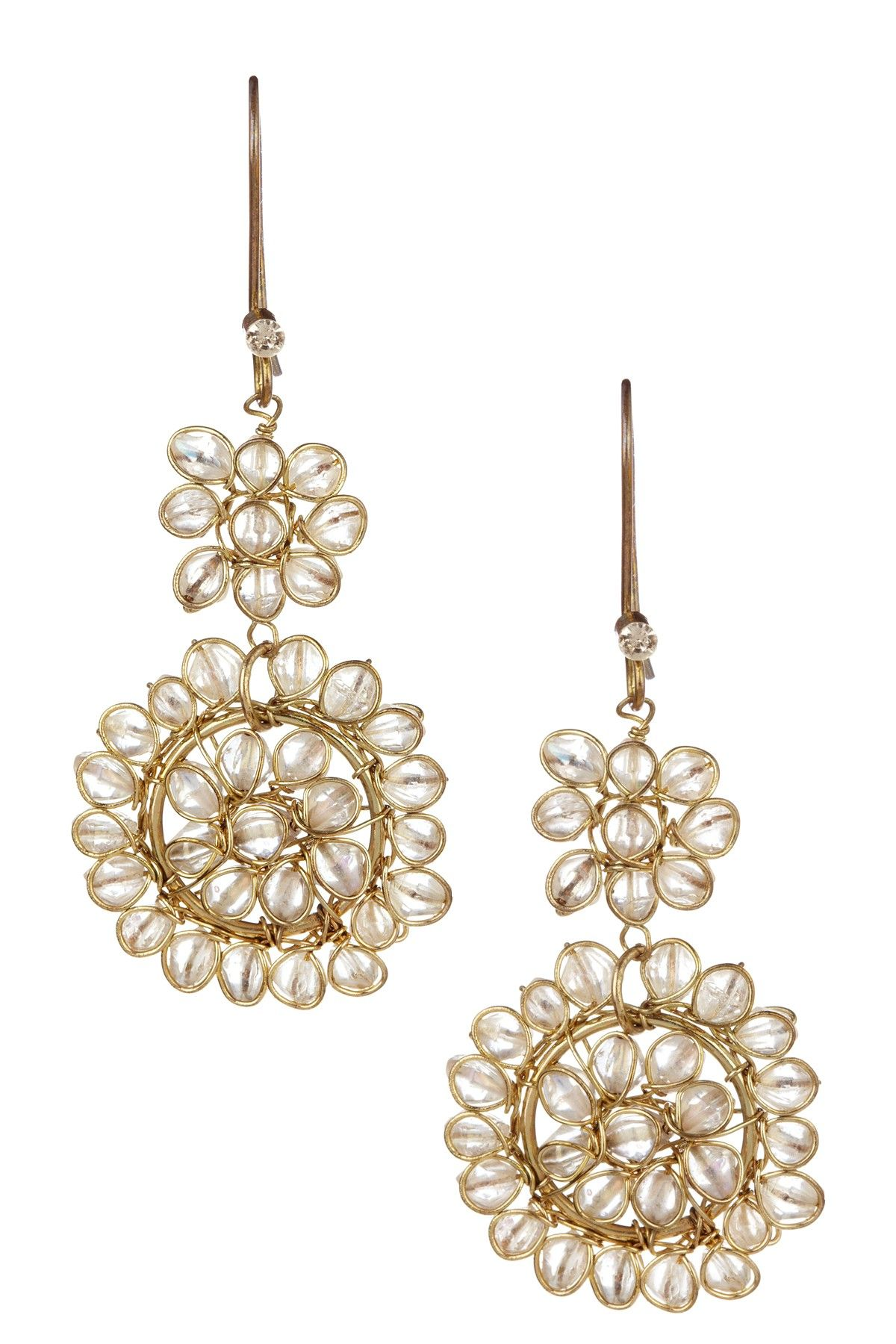 Bali Flower Earrings