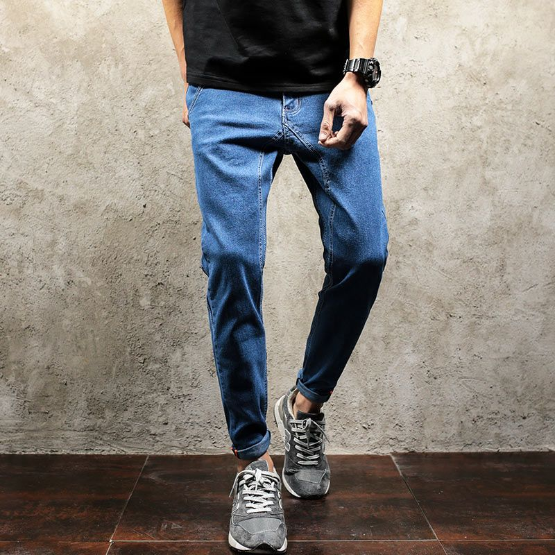 6114cc3cdb304 Click to Buy    ZEESHANT Big Size 38 40 Mens Womens Basic Skinny Fit ...