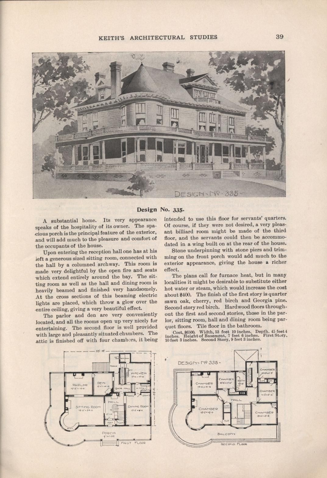 Keith S Architectural Studies No 8 Vintage House Plans Architecture Architectural Prints