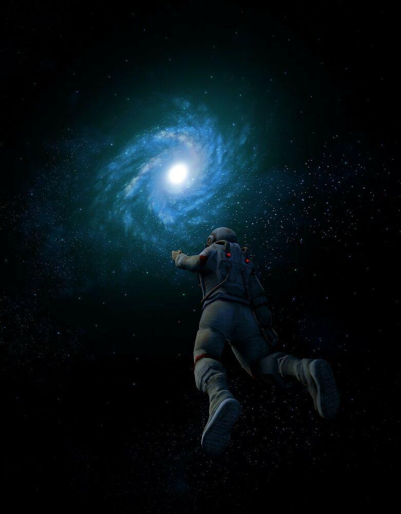 Astronaut Nasa Galaxy Black Hole Poster Dark Angel Wallpaper Space Illustration Angel Wallpaper