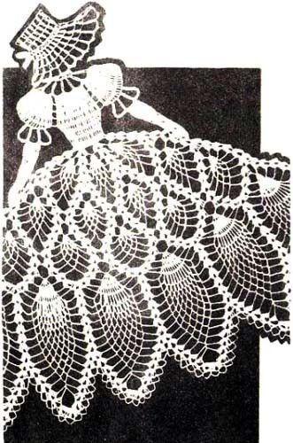 Crochet Pattern Vintage Pineapple Sunbonnet Girl Chair Back Set