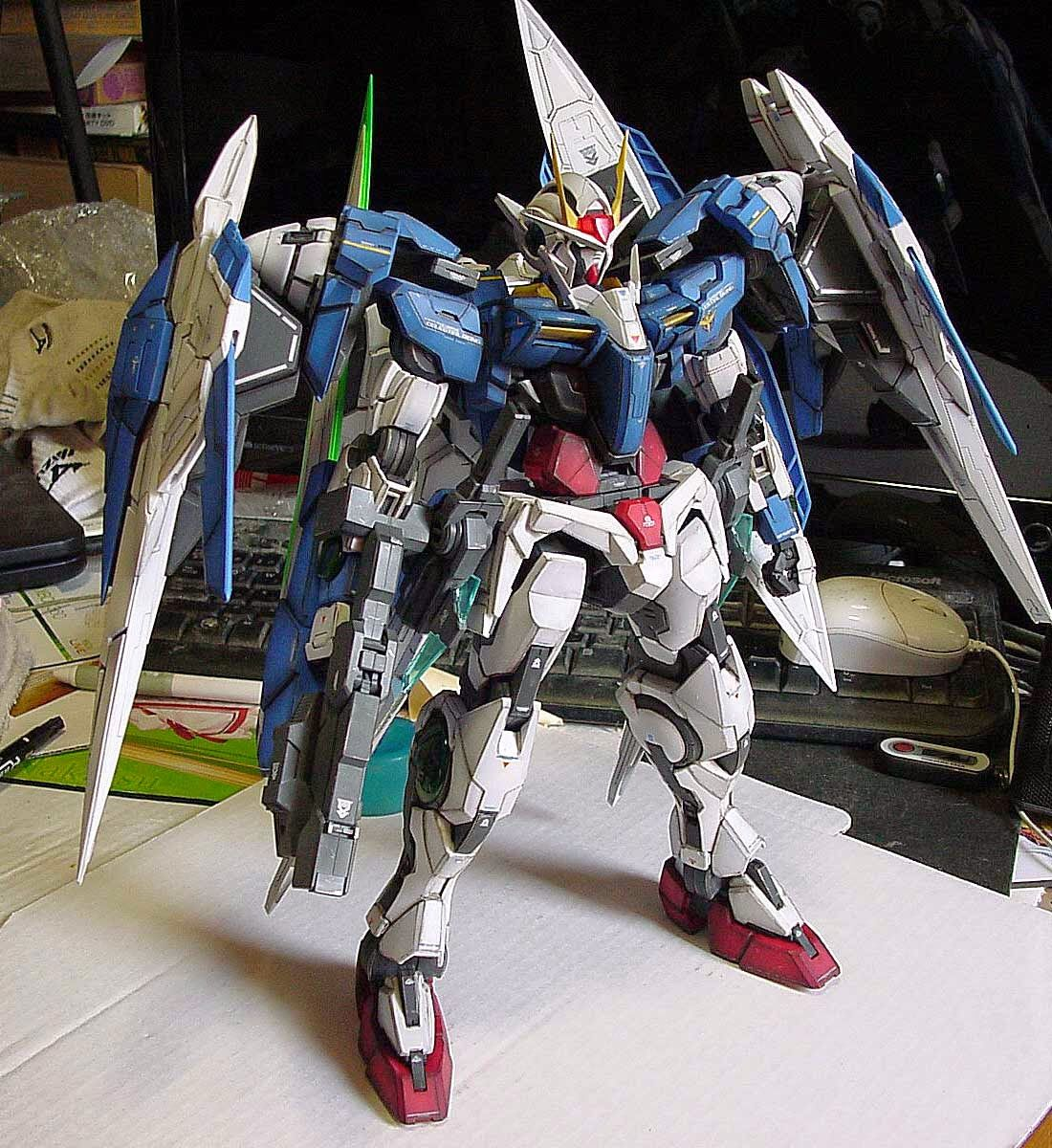 Painted Build PG 1/60 00 Raiser + weathering Painting