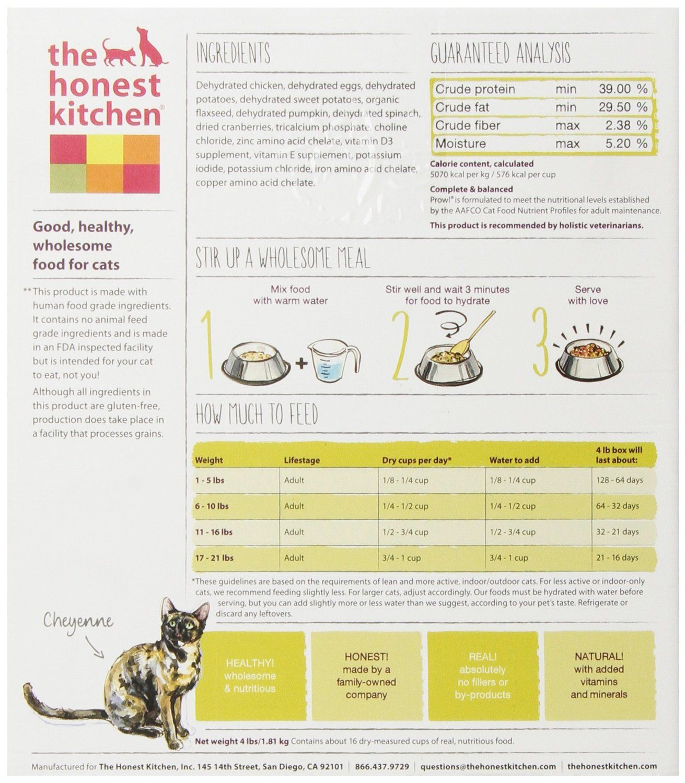 the honest kitchen prowl grain free chicken cat food