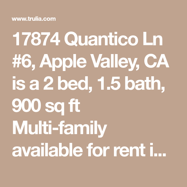 17874 Quantico Ln #6, Apple Valley, CA Is A 2 Bed, 1.5