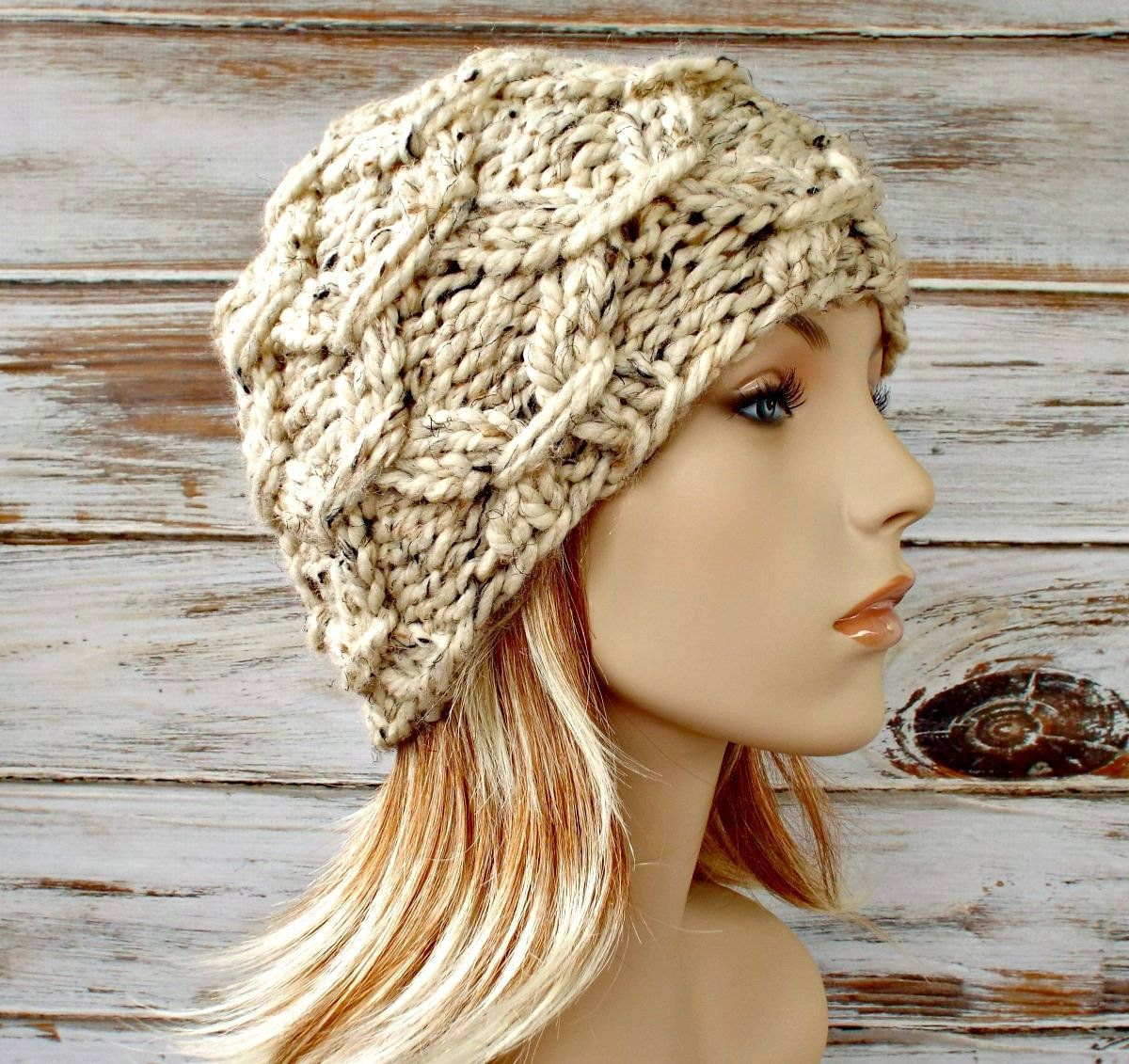 Chunky knit hat mens hat womens hat winter hat knit etsy