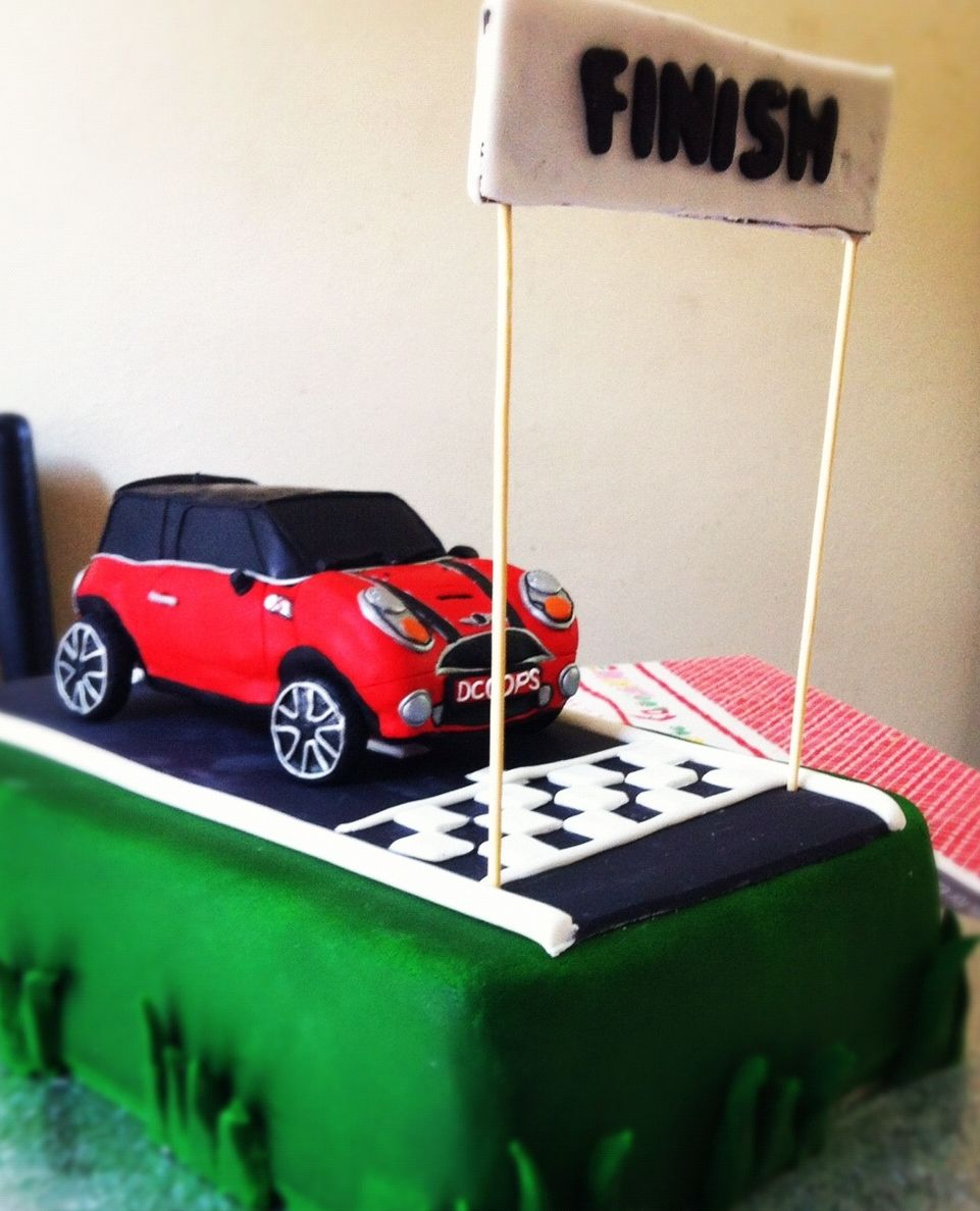 mini cooper s car cake topper.JPG (961×1187)