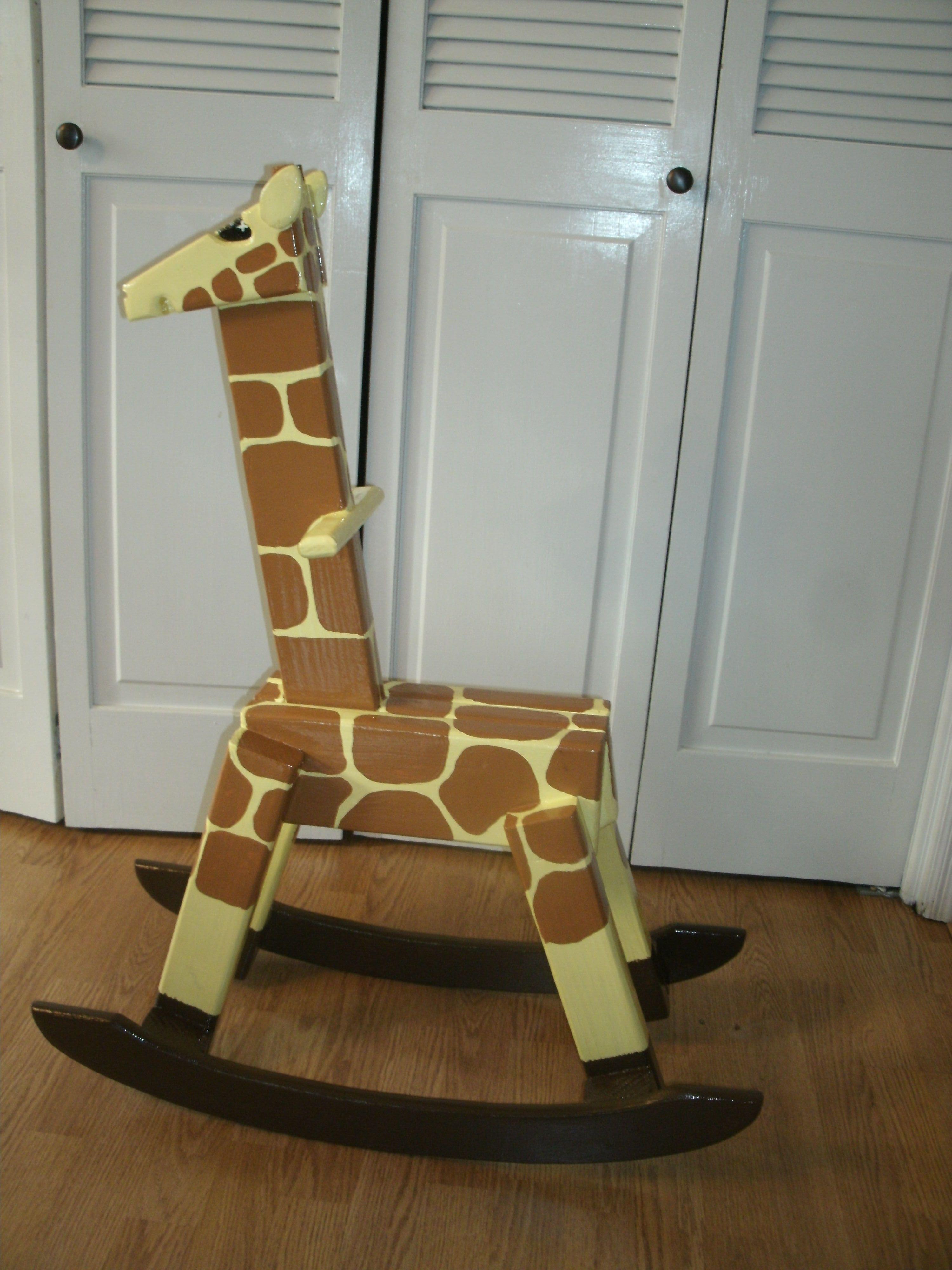 Rocking Giraffe Finished.