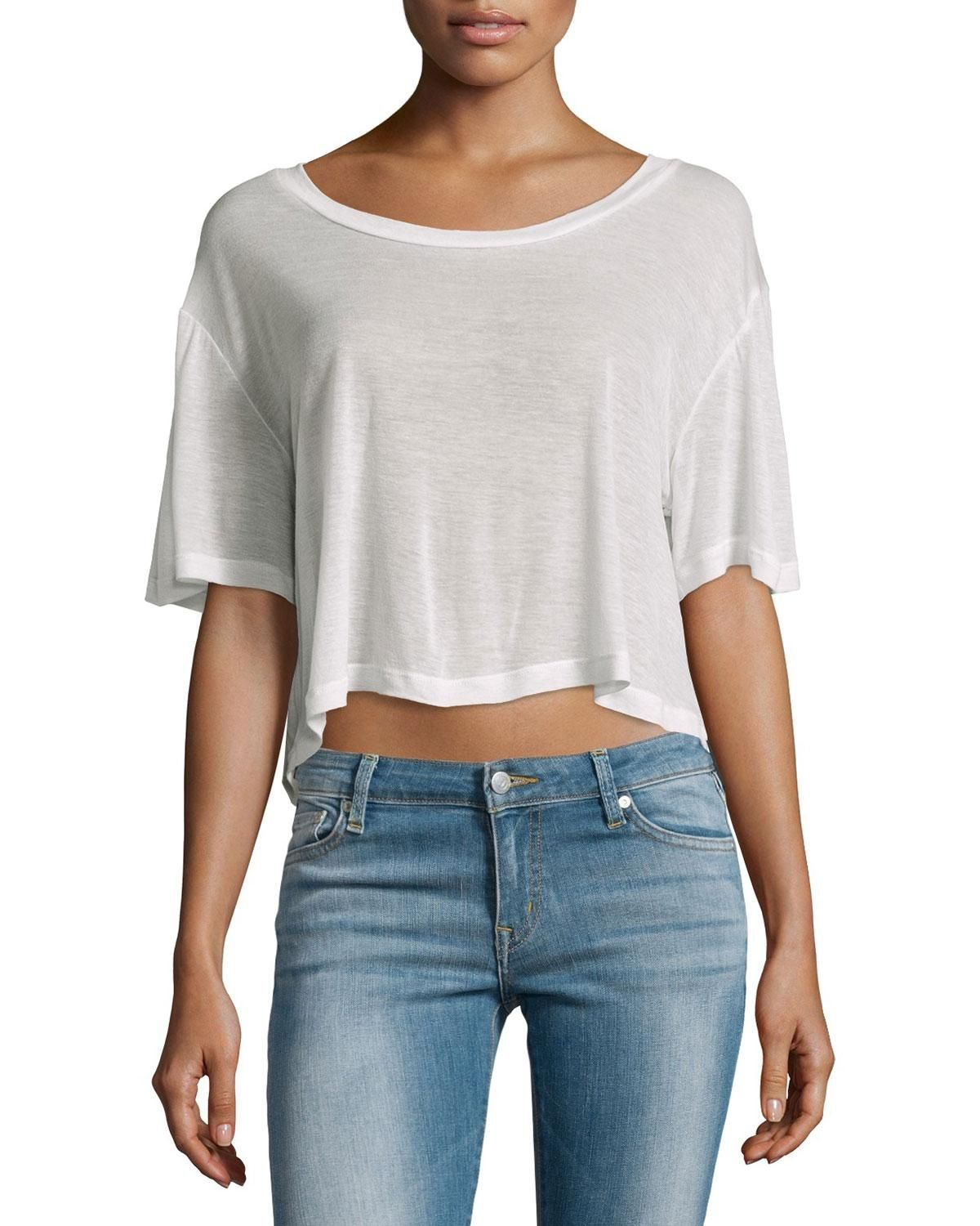F.T.B by Fade to Blue Short-Sleeve Cropped Tee, Blush, Women's, Size: LARGE, Blu - http://www.musteredlady.com/f-t-b-by-fade-to-blue-short-sleeve-cropped-tee-blush-womens-size-large-blu/  .. http://goo.gl/G65fUy |  MusteredLady.com