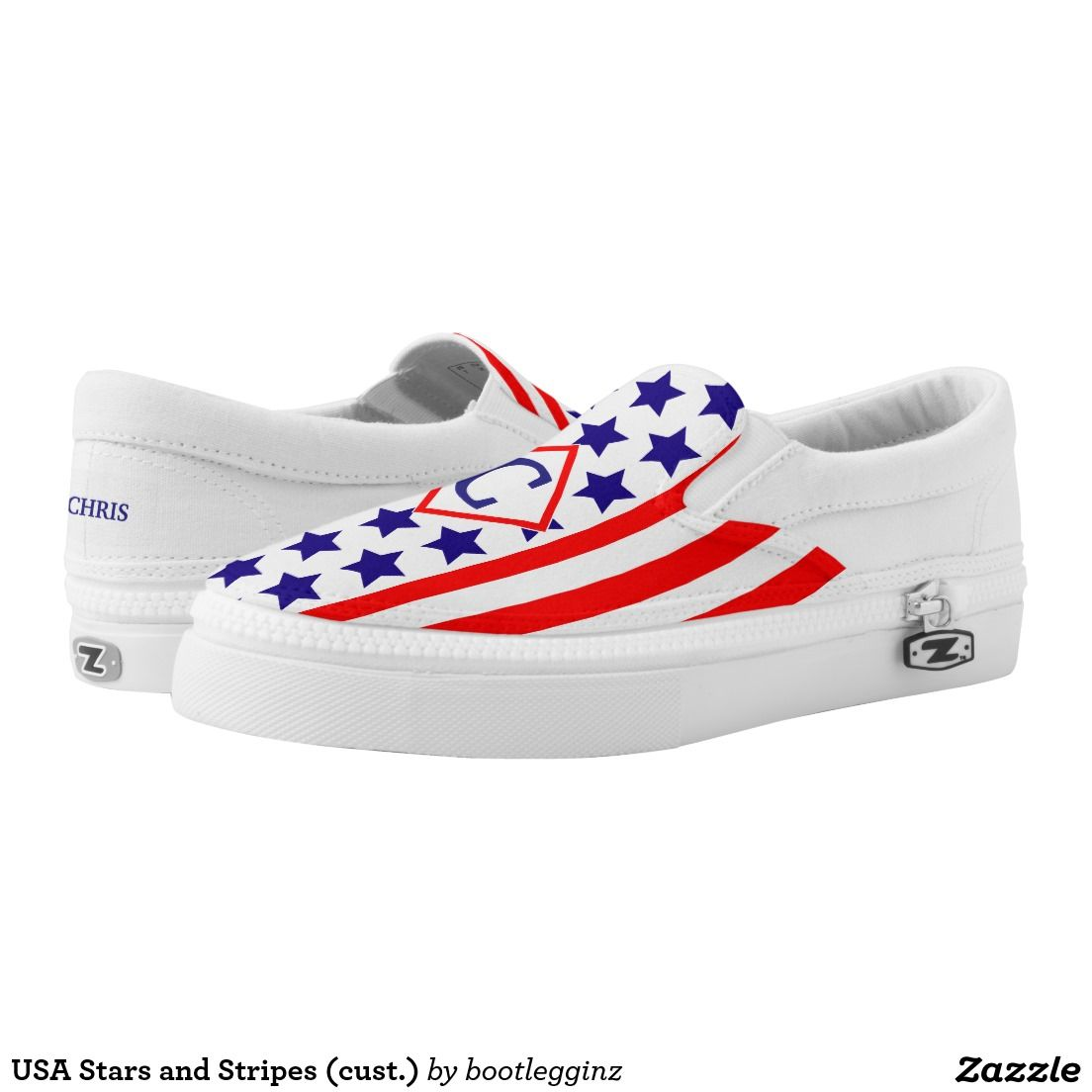USA Stars and Stripes (cust.) Slip-On Sneakers