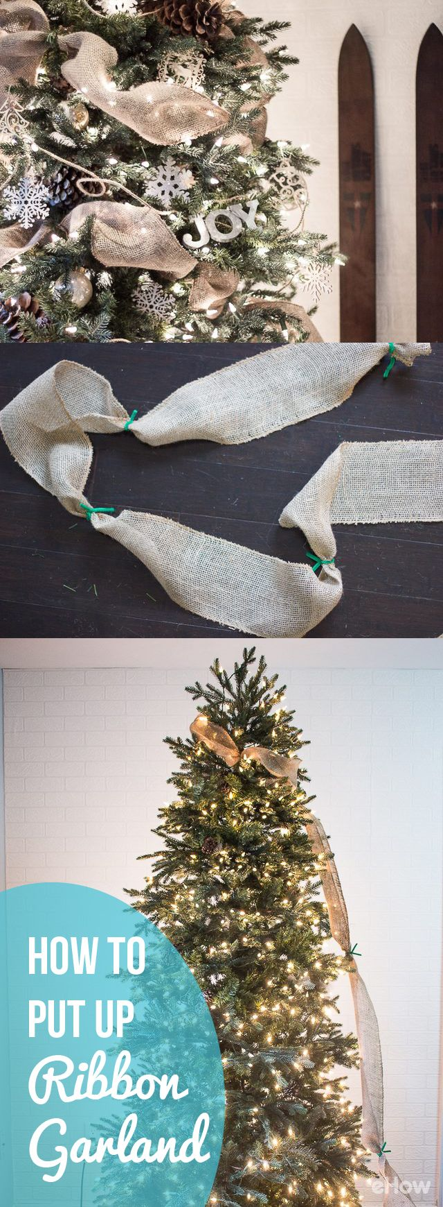 How To Put Ribbon Garland On A Christmas Tree Crafts Net Lights Wiring Diagram Add Statement Piece Your For An Emphasized Stylish Touch Large That Makes The Whole Look Like Gift