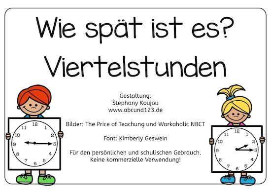 Wie spät ist es? [Viertelstunden] - | Uhrzeit lernen, Uhrzeiten und ...