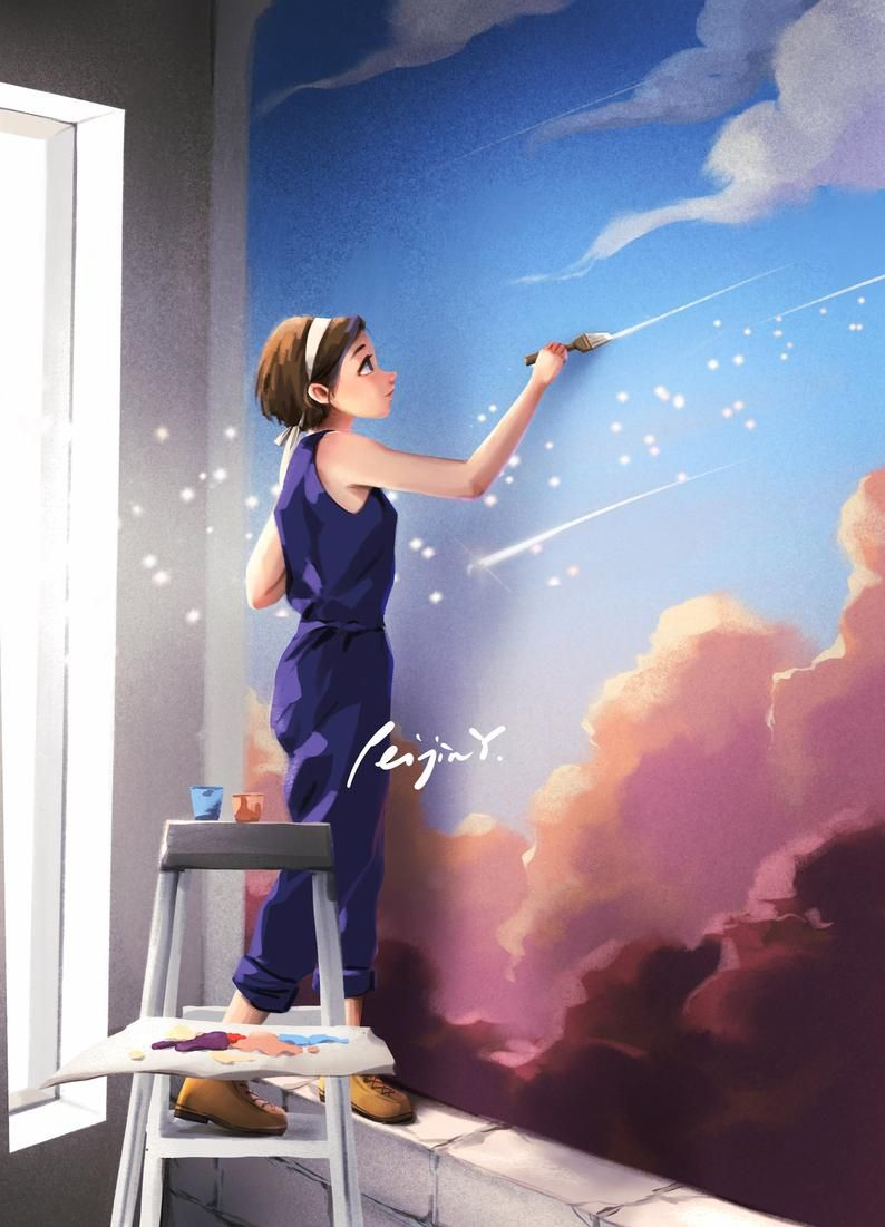 The Magic World - Art Prints - Wall Painting - Cre