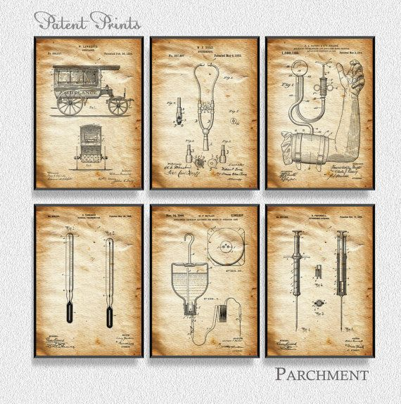 Medical patents set of 6 prints medical poster medical decor medical patents set of 6 prints medical poster medical decor medical blueprint malvernweather Gallery
