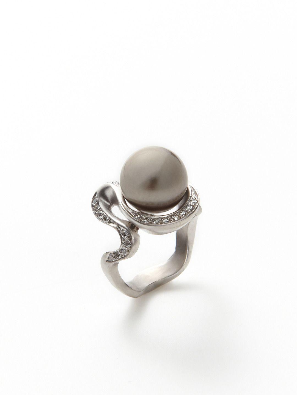 Tom Cherin Black Serpent & Diamond Ring