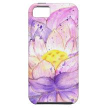 Lotus Flower Watercolor 4 iPhone SE/5/5s Case