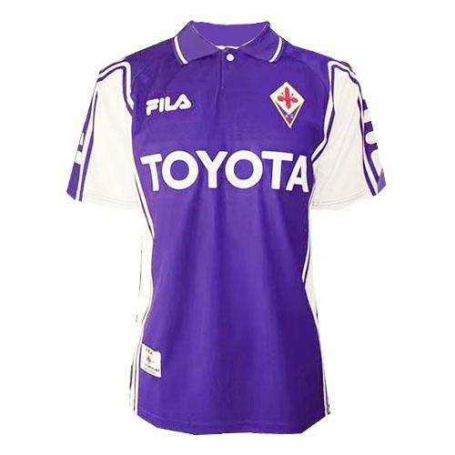 Fiorentina Retro Soccer Jersey Home Replica 1999/00 | Football ...