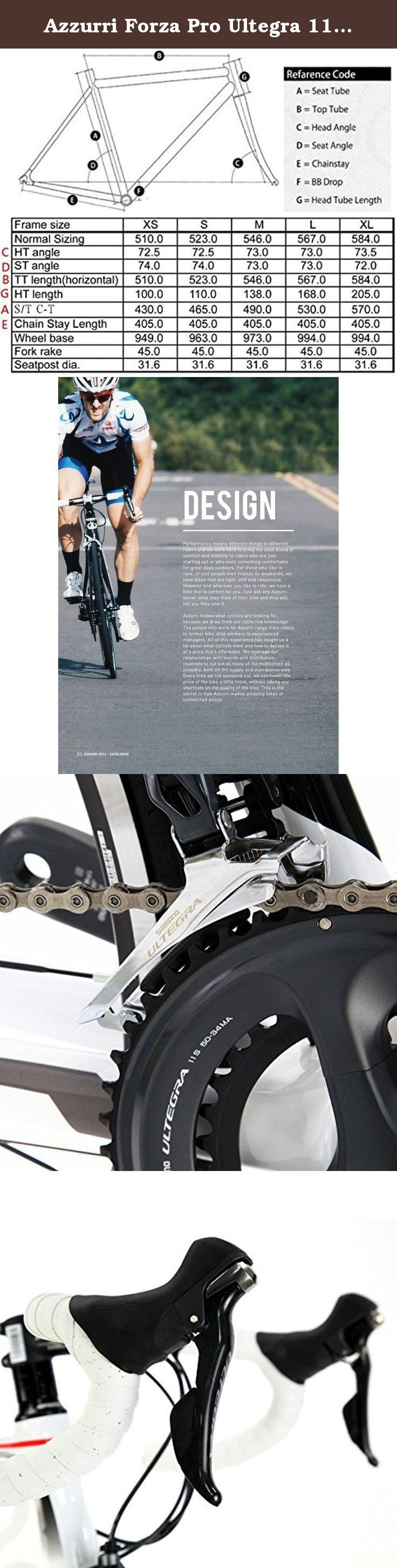 Azzurri Forza Pro Ultegra 11 Carbon Road Bike 2015 Size Xl The