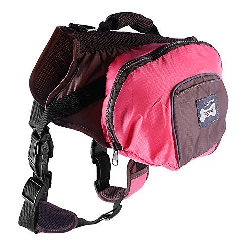 Dog Backpack Adjustable Saddlebag Style for Pet Travel Hiking Camping -- For more information, visit http://www.amazon.com/gp/product/B01ALGFP9I/?tag=wwwmytravel-20&vw=200716181633