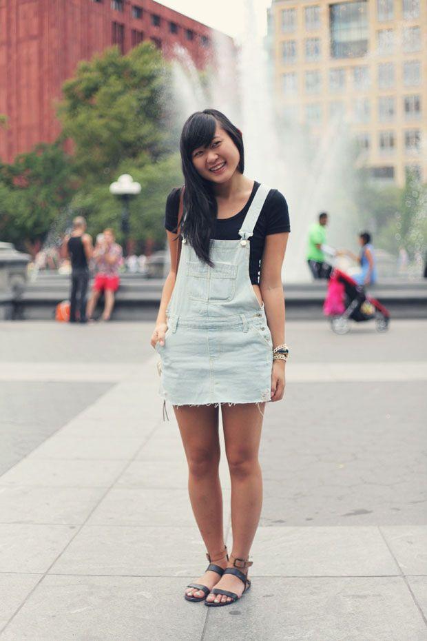 JennifHsieh | Outfit | Black Crop Top Denim Skirt ...