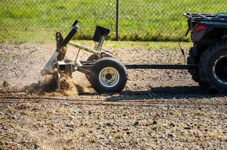 Atv Driveway Graders Gravel Rascal Abi Attachments Atv Sub Compact Tractors Graders