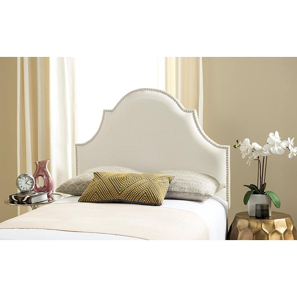 Old window above bed  safavieh hallmar leather arched headboard  twin  arch twins and