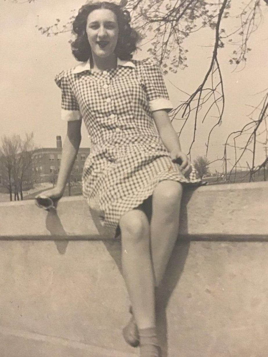 1940s Photo Of A Young Woman In A Pretty Dress Iris Parr 1940s