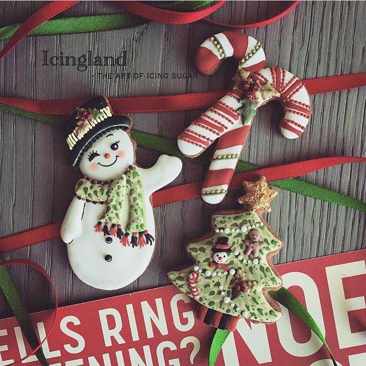 Christmas icing cookie⛄ Christmas cookies Pinterest