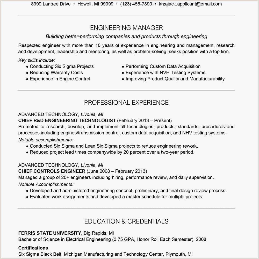 Electrical Engineer Cv format in 2020 Engineering resume