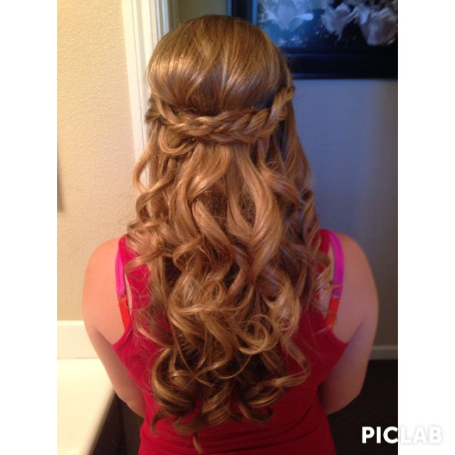 How I Did My Hair For My 8th Grade Promotion Dance Hair Styles Graduation Hairstyles Cute Hairstyles