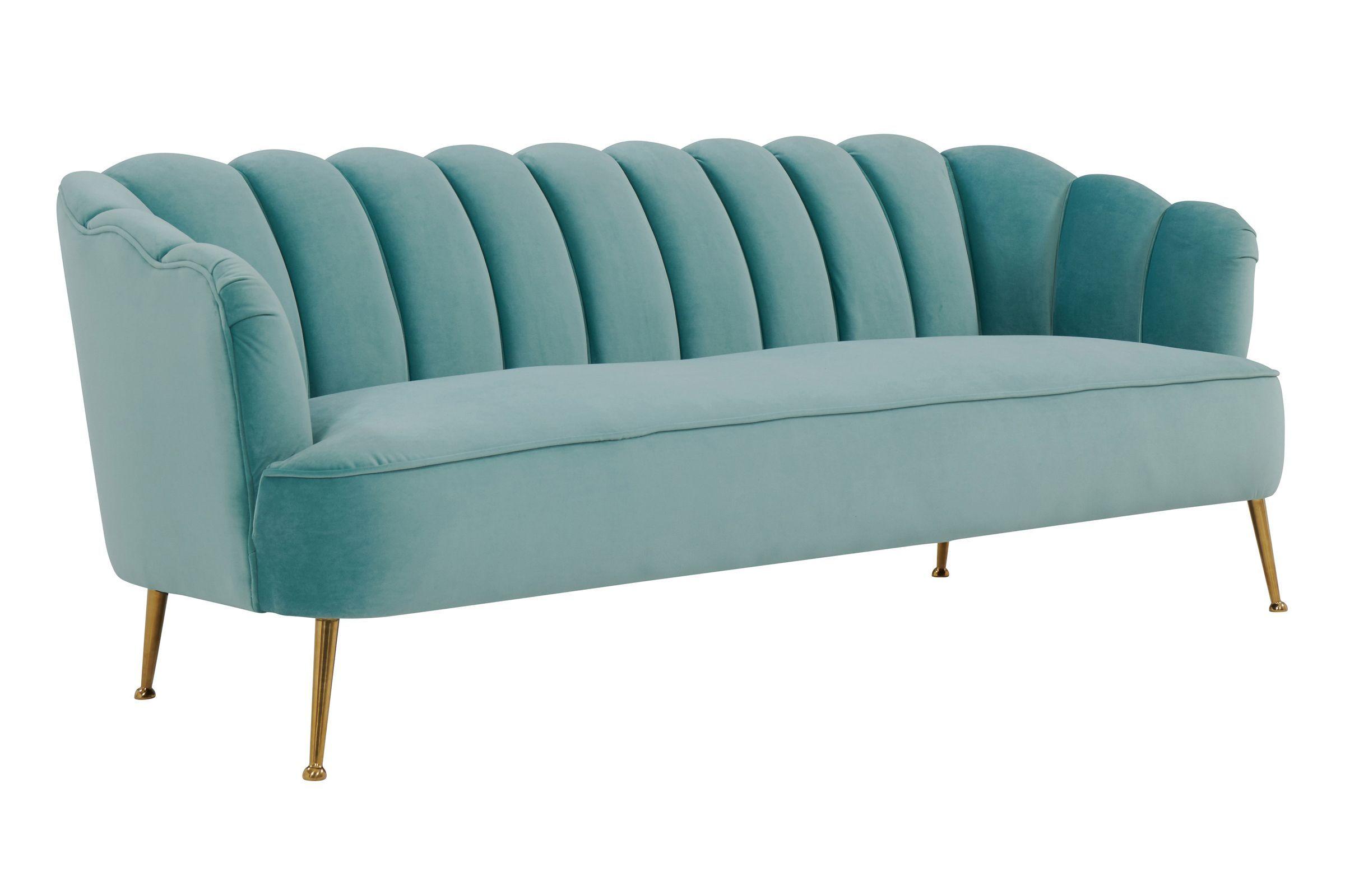 Daisy Petite Sea Blue Velvet Sofa By Tov In 2020 Blue Velvet Sofa Velvet Sofa Set Navy Blue Velvet Sofa