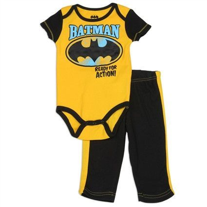 Batman Boys Newborn 2PC Onesie Set