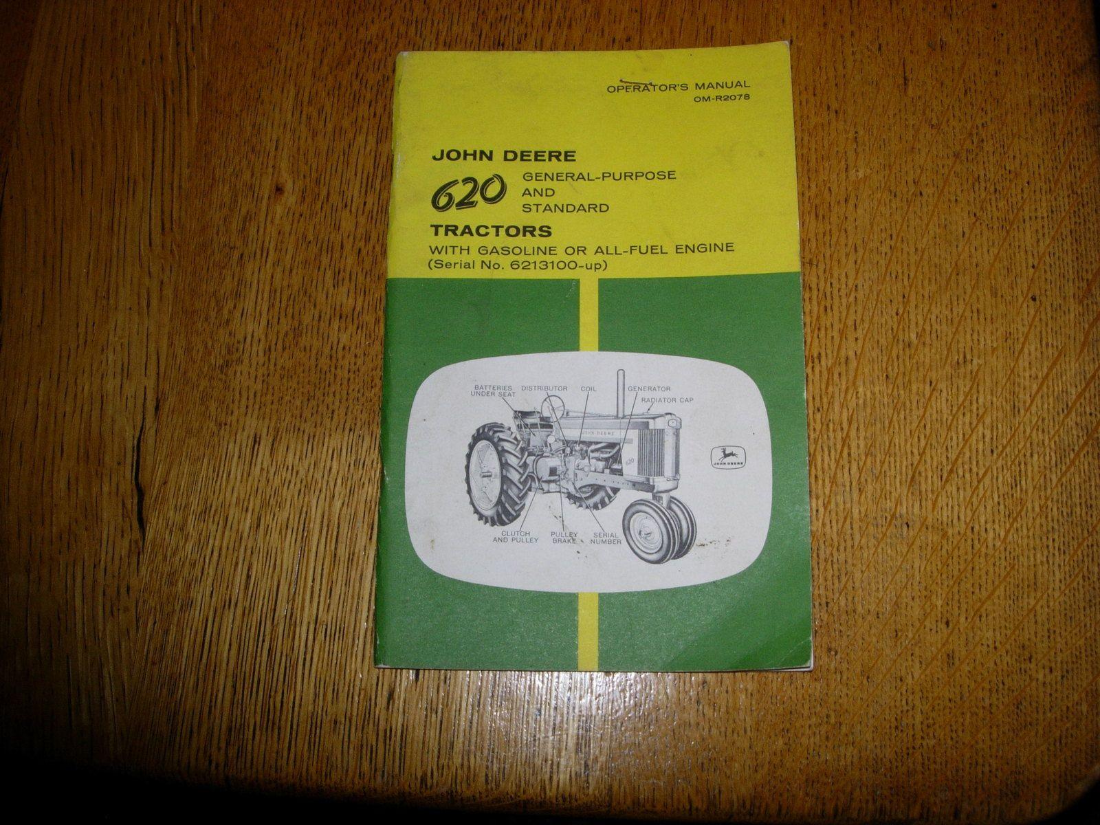 John Deere 620 Operators manual